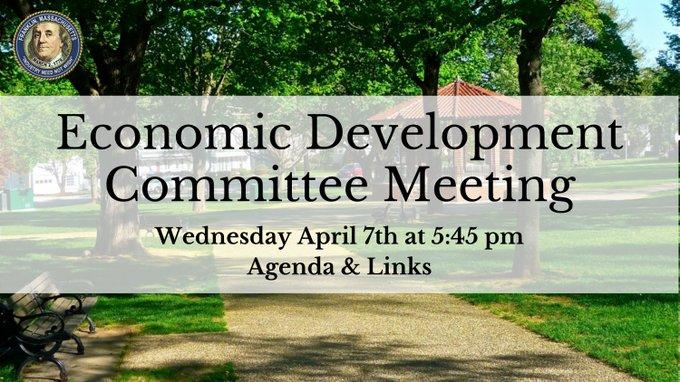Economic Development Subcommittee - Agenda - April 7, 2021 - 5:45 PM