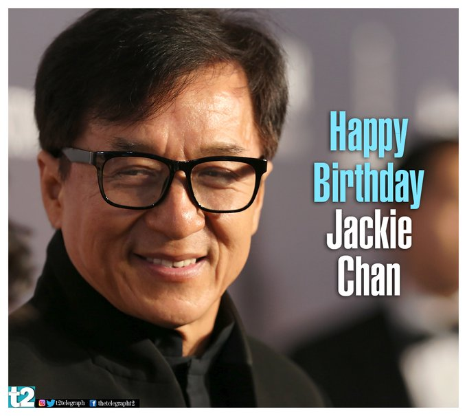 His name spells entertainment, entertainment, entertainment! Happy birthday Jackie Chan!