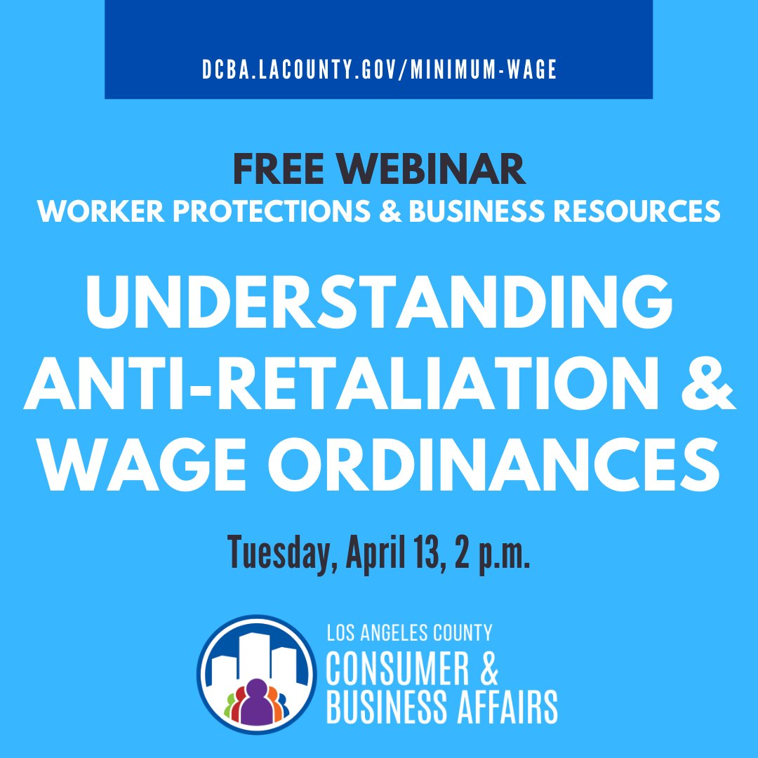 REMINDER: Join us tomorrow to learn how to stay in compliance with the latest #wage ordinances!   Details ⬇️
