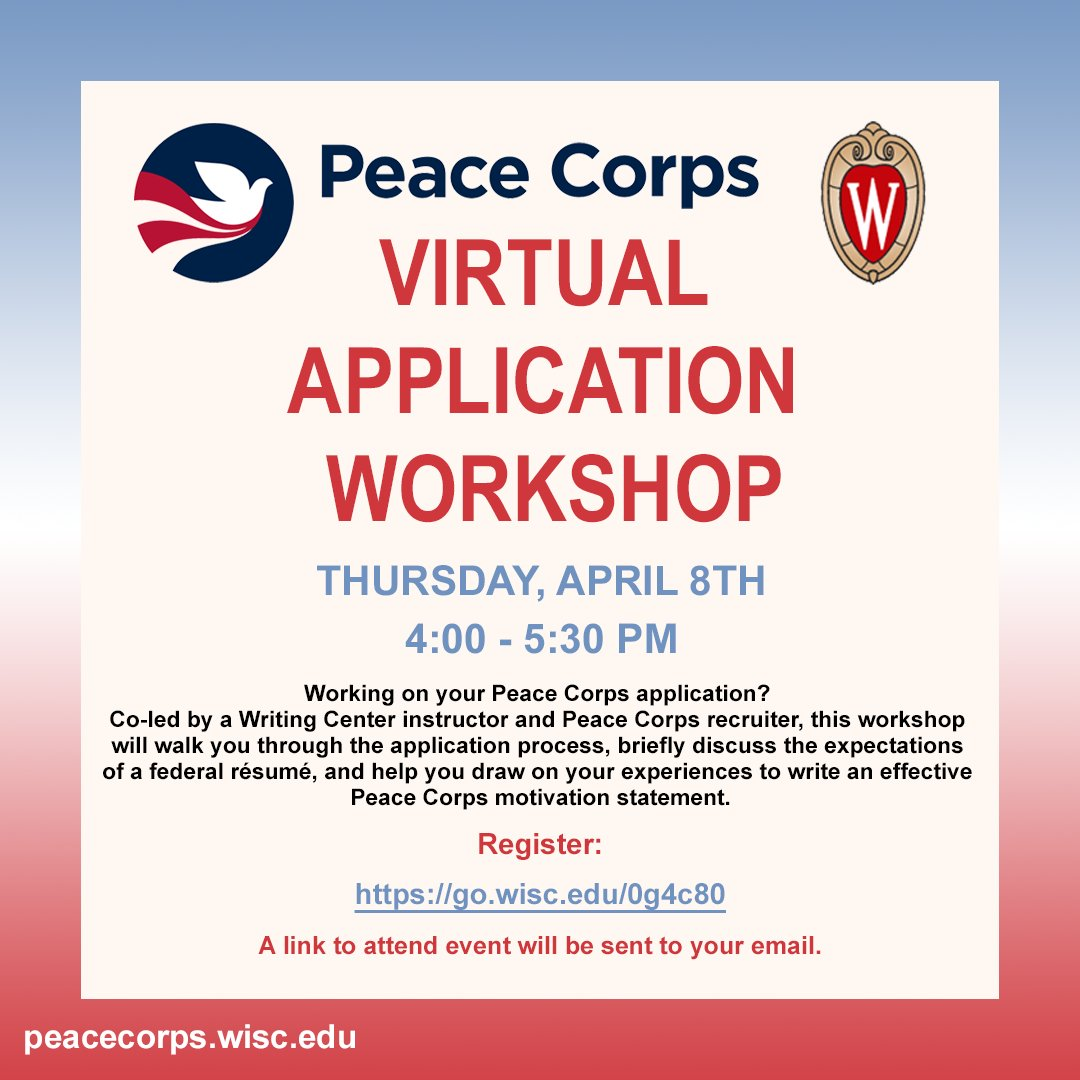 Uw Madison 2022 Calendar.Peacecorps Uw Madison Peacecorpswisc Twitter