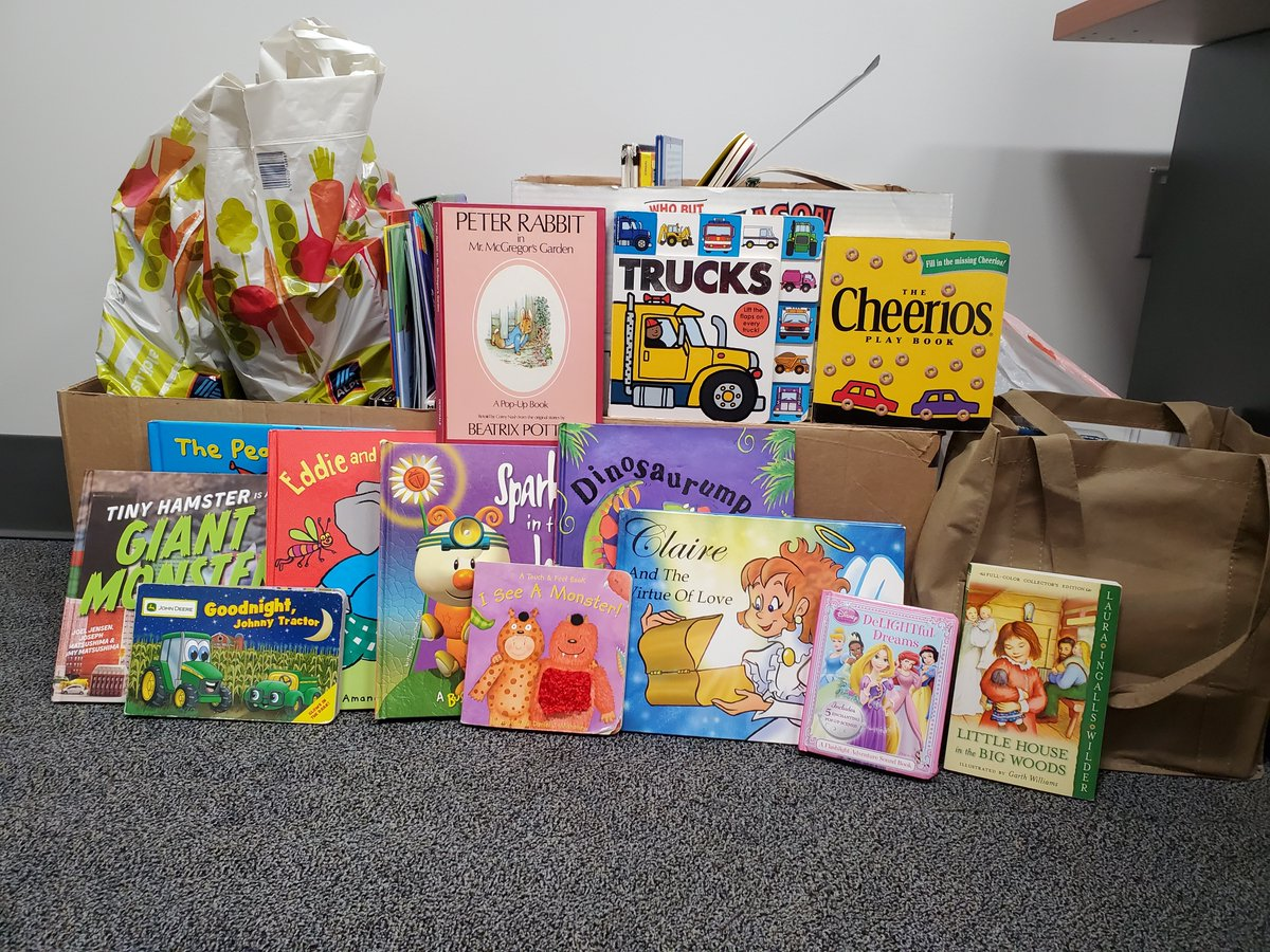 Great books! Thanks so much for running a book drive for us 😀