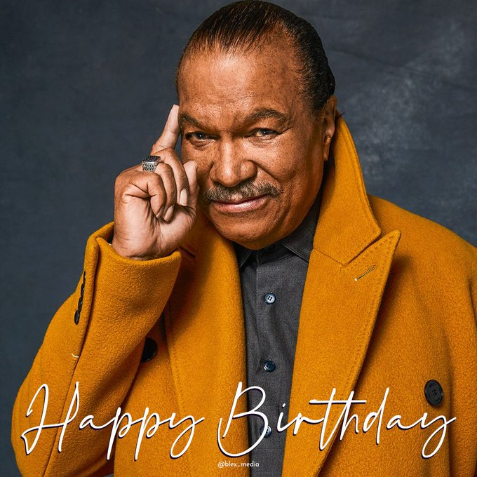 Happy Birthday to the legend, Billy Dee Williams!