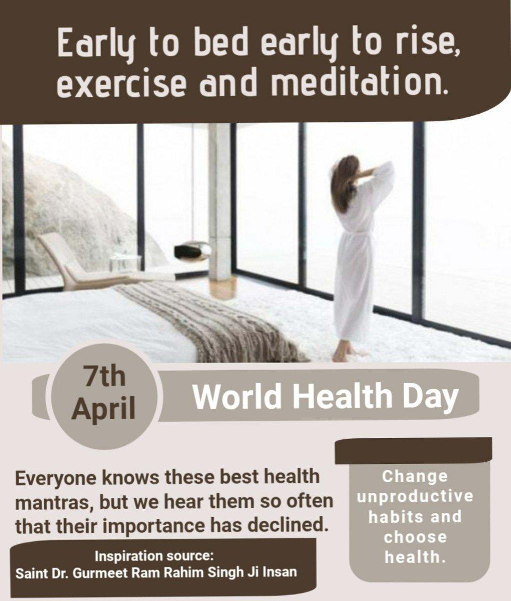 @HumanityWarior7's photo on #WorldHealthDay