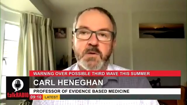 Oxford professor Carl Heneghan says were seeing a consistent problem with coronavirus modelling, calling them out of date and very negative. They seem to be saying the vaccine is failing. @JuliaHB1 | @carlheneghan