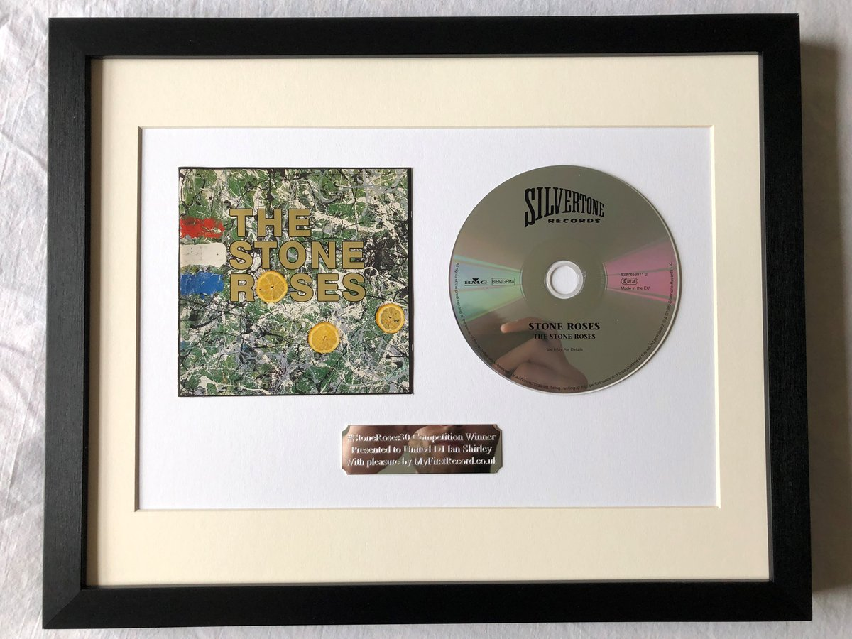 To celebrate the #IanBrownTop10 trending in the Twittersphere, we are hanging this classic #StoneRoses album in the #RockandRollHallofFrame picture gallery @ MyFirstRecord.co.uk picture gallery