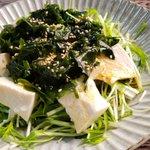 お酒のおつまみとしてもあり?!水菜やお豆腐を使った絶品サラダの作り方!