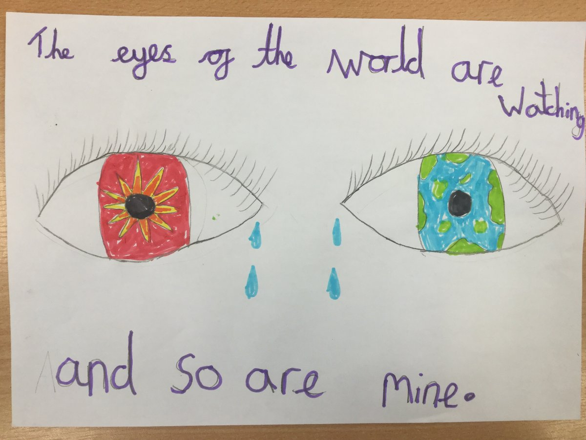 """CAFOD Schools on Twitter: """"Schools have started to send in photos of their eye artwork to show their support for our #EyesOfTheWorld campaign. 🌎 Find out how you and your pupils can"""