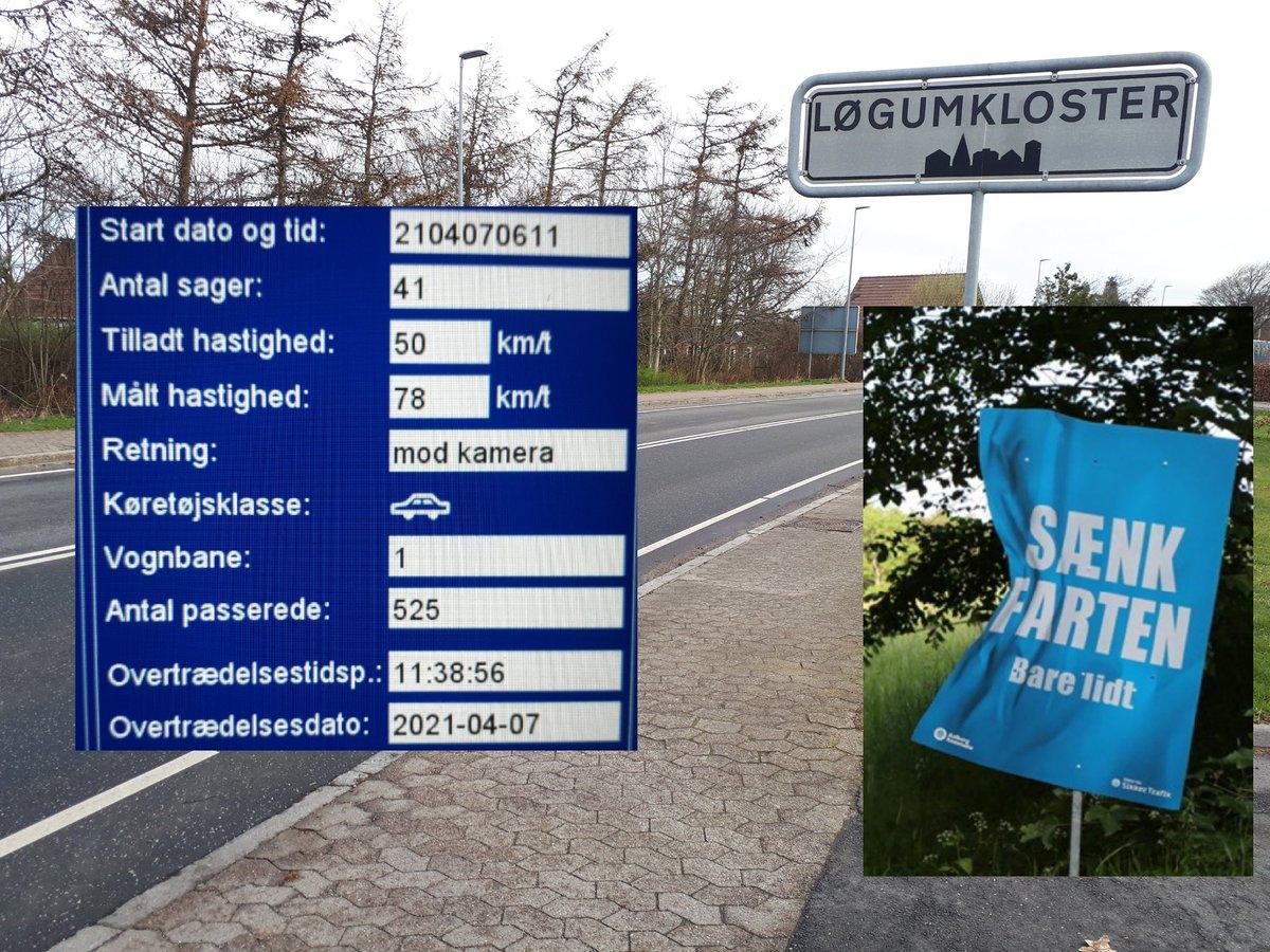 På baggrund af tidligere borger henv. på https://t.co/U6aoXyj5Jg, har vi været på Nørremark i Løgumkloster med fotovognen. 44 blev blitzet deraf 7 klip, hvor den hurtigste kørte 78 km/t. Sænk farten bare lidt og gør samtidig borgerne i Løgumkloster trygge #atkdk #politidk https://t.co/OEMRuFyANb