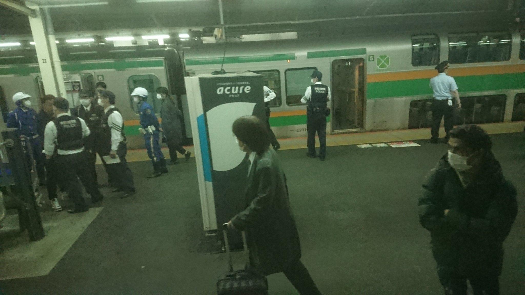 東海道線の戸塚駅でお客様トラブルがあった現場の画像