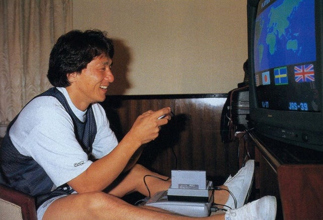 Happy Birthday!  Jackie Chan enjoying some time.