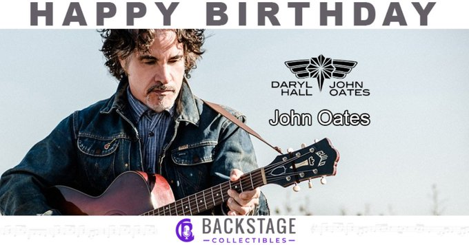 Happy Birthday to John Oates of Hall and Oates!