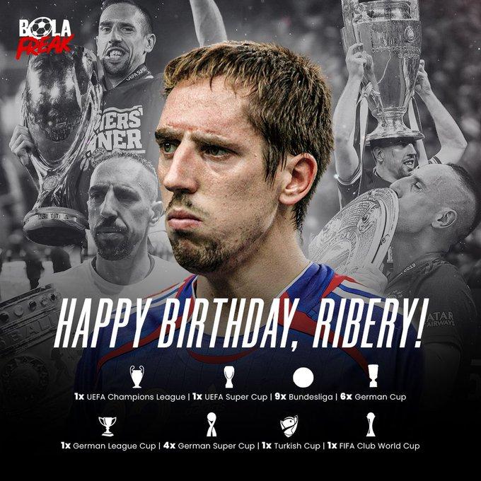 Hari ini Franck Ribery genap berusia 38 tahun. Happy birthday!