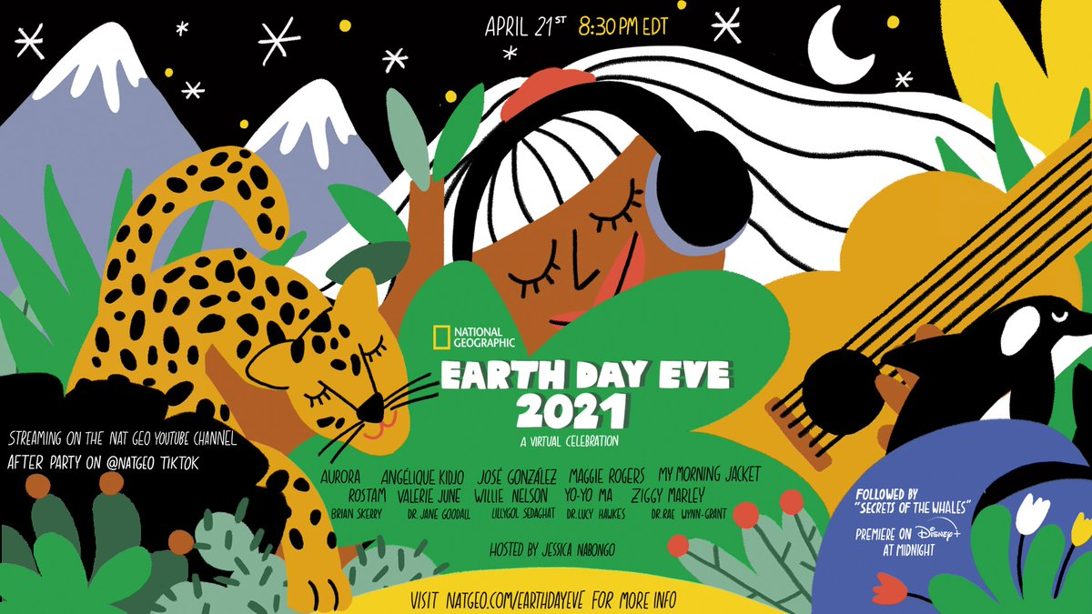 Celebrate our shared love for the planet with special appearances by Nat Geo Explorers and musical performances from planet-loving artists!  #NatGeoEarthDay https://t.co/8vgXJCvlYH