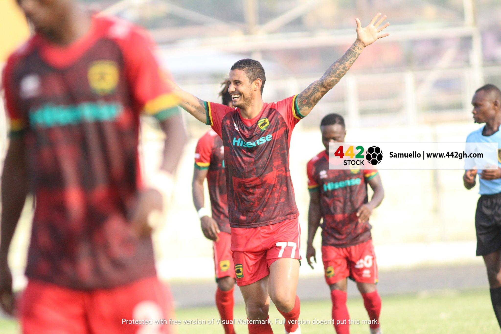 EyYqzBpWUAMjYfE?format=jpg&name=large - PHOTOS: Brazilian Striker Michael Vinicius Scores First Asante Kotoko goal On His Debut game against Bechem United