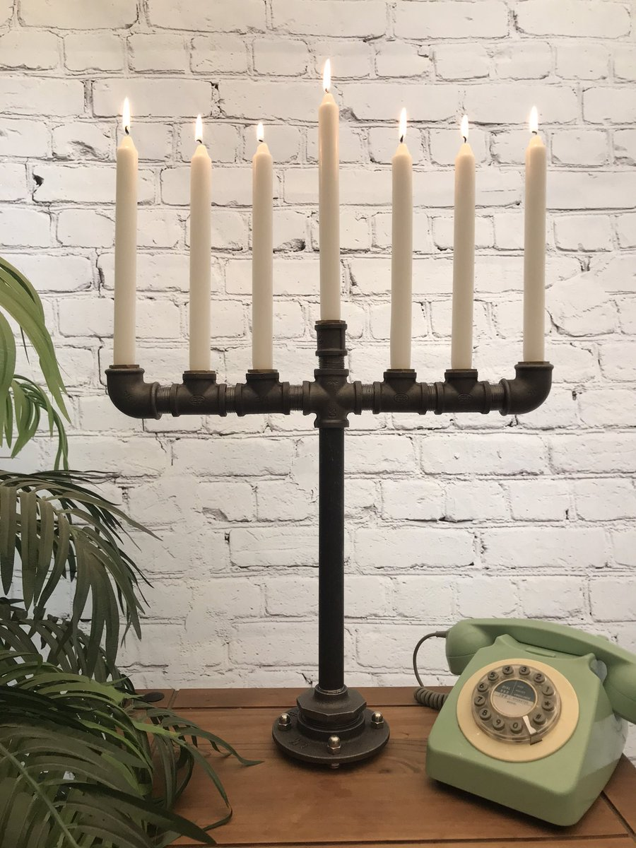 It's been all about the 🕯 candlestick holders today.  #candles #industrial  #candlestickholders #steampunk