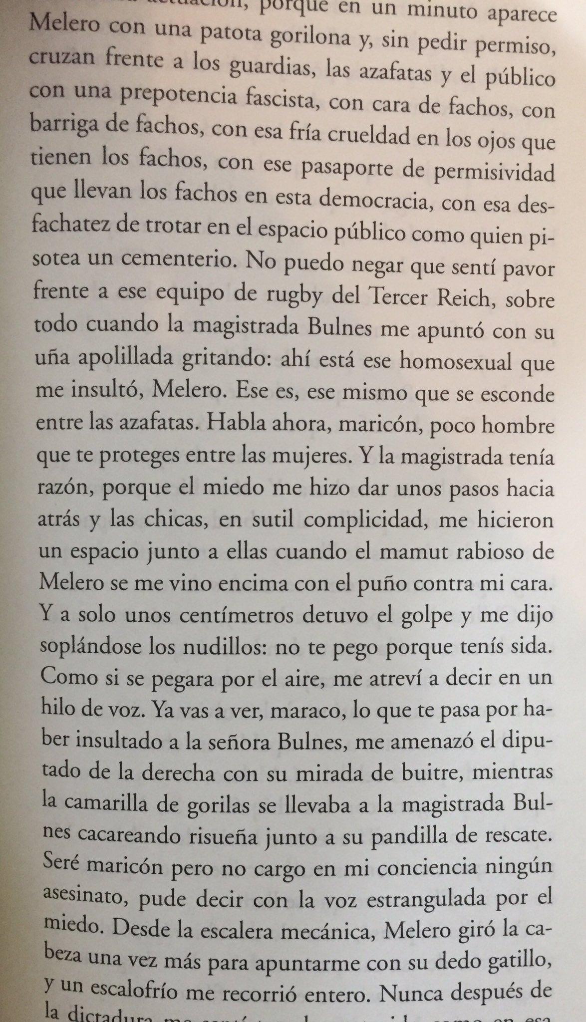 Patricio Melero insultando a Pedro Lemebel
