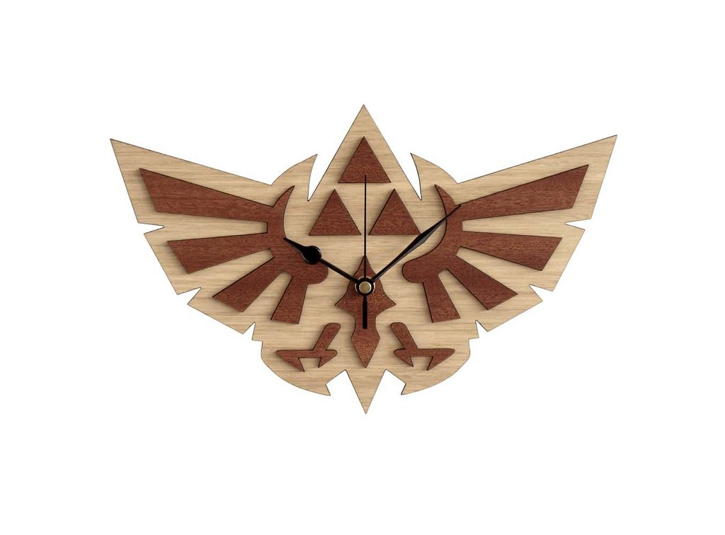 Handmade #WingCrest wooden clock #Zelda #instagood #Gamer - WorldwideShipping https://t.co/9JGp2TMRdE