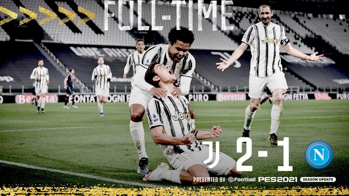FT | VITTORIA IMPORTANTISSIMA ⚪️⚫️ I gol di @Cristiano e @PauDybala_JR valgono i tre punti 🔥💎 Ben fatto, ragazzi! 💪💪 #JuveNapoli #ForzaJuve