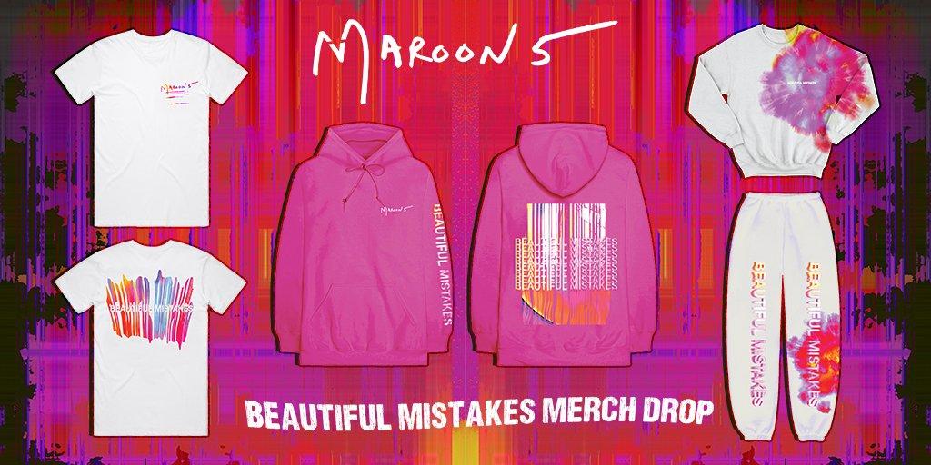 It's beautiful, it's bittersweet, it's new Maroon 5 Beautiful Mistakes merch! 💖 Shop -> https://t.co/0tXffzD8wP https://t.co/xg7rUNJwyk