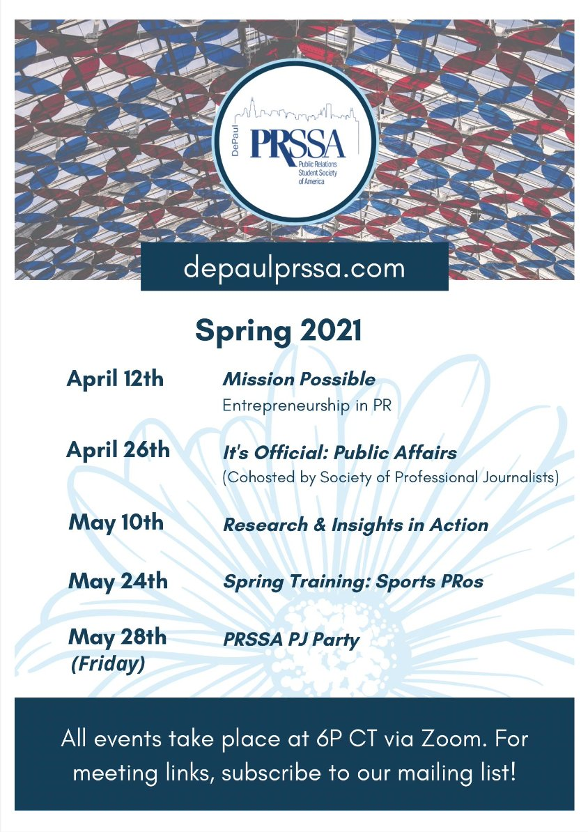 Depaul 2022 Calendar.Depaul Prssa Depaulprssa Twitter