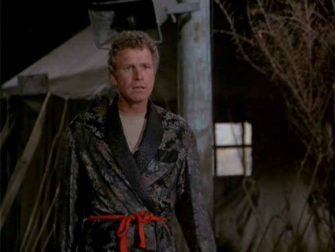 Happy birthday to Wayne Rogers, who blessedly spent a good deal of time in this lovely robe on MASH.