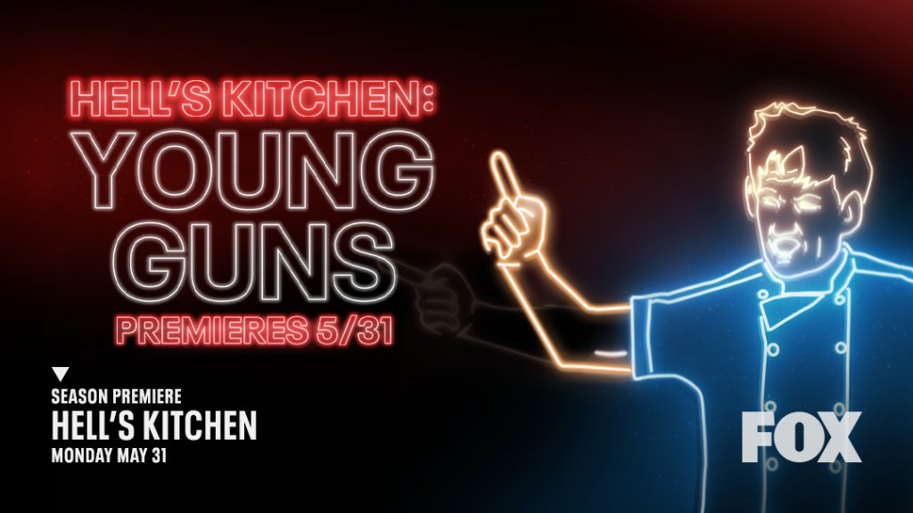 """Hell's Kitchen on Twitter: """"Surpriiiiise shawtayyy! 🥳 Yup, we're returning  for season 20 with #HellsKitchen: Young Guns May 31 on @FOXTV.… """""""