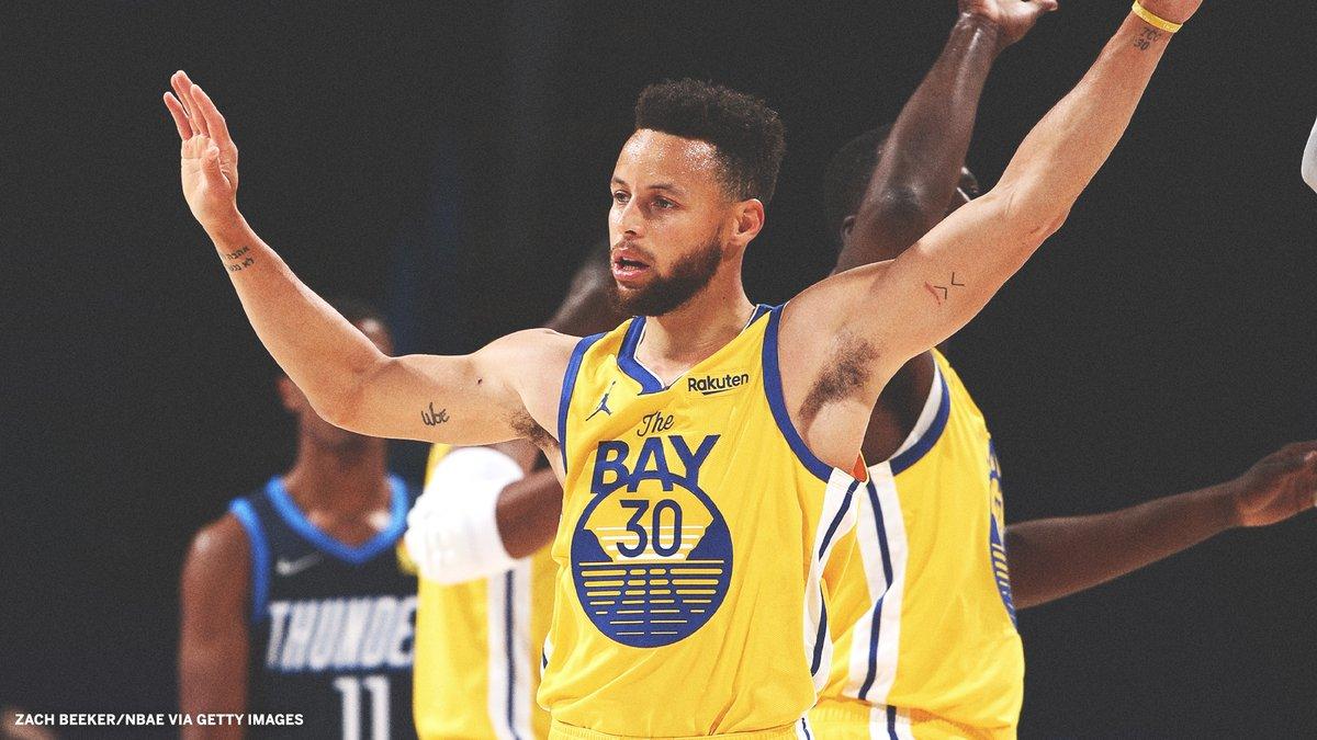 April 2: Raptors beat the Warriors by 53 points  April 14: Warriors beat the Thunder by 38 points  The Steph effect. https://t.co/lqtgf7fdhS