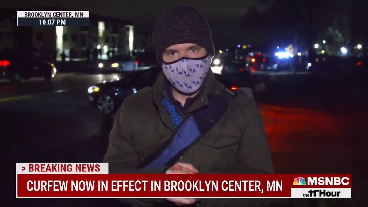 As a curfew went into effect on the fourth night of protests following the police shooting death of Daunte Wright, officers again used crowd dispersal tactics to break up the protests.  @CalNBC joined us with the latest.  Learn more: https://t.co/7PltEaeIL5 https://t.co/UgpbPid9M2