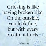 Image for the Tweet beginning: Grief is often hidden. 🧡