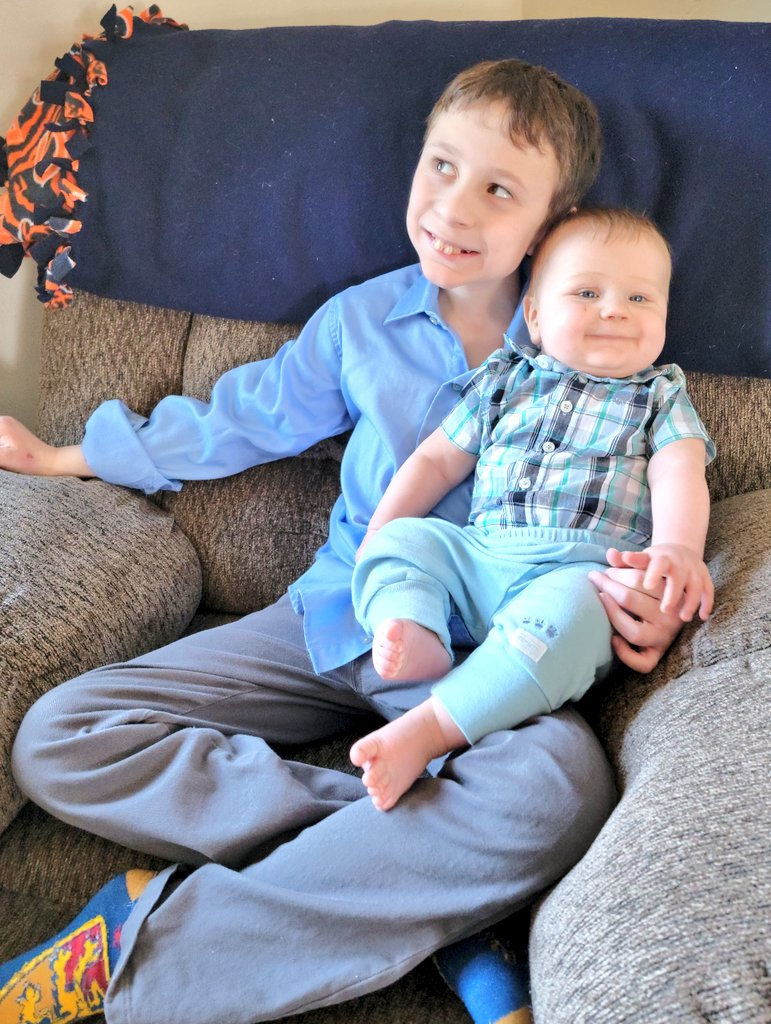 Lucas and Liam are sitting together on Easter. #indoors #bellevue #wisconsin #home #son #lucas #liam #Easter2021