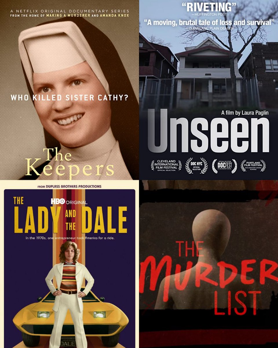 We'd love to feature powerful and moving content like this at the inaugural TCFF. Have you seen these incredible docs? What did you think? 👇🏼  #unseendocumentary #unseen #thekeepers #theladyandthedale #themurderlist