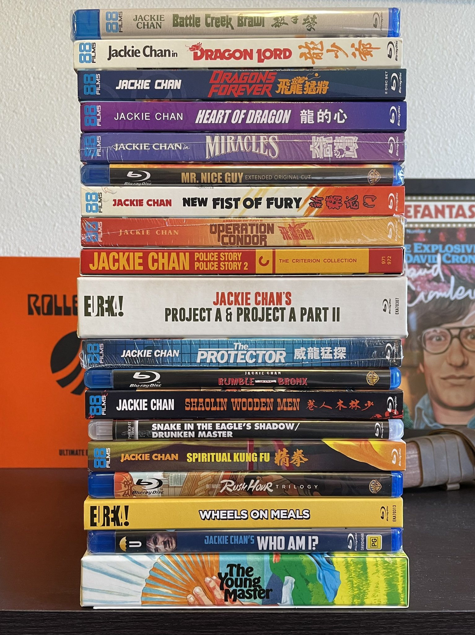 My # Jackie Chan physical media collection. Happy Birthday to the legend!