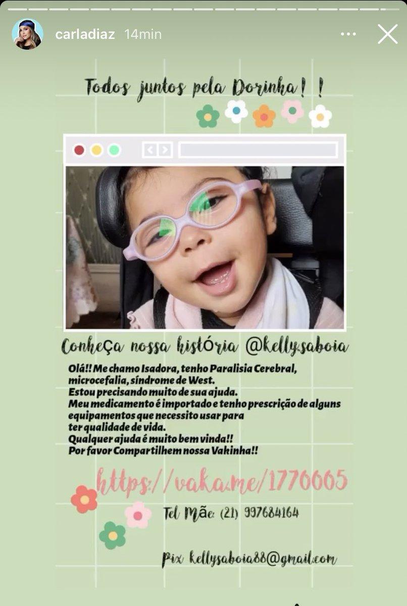 Aqui está o link para quem puder/quiser ajudar a Dorinha:  AJUDE A DORINHA   https://t.co/fhS8zNWS3e https://t.co/MyHhGJ5gri