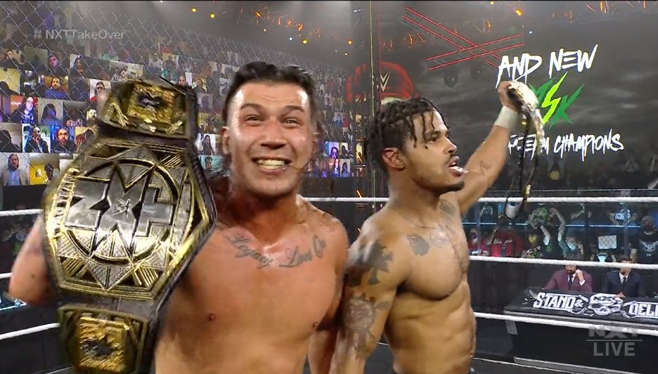 MSK  are the NEW NXT Tag Team Champions! All three teams gave it their all. #NXTTakeOver https://t.co/qmqx47j4Ig