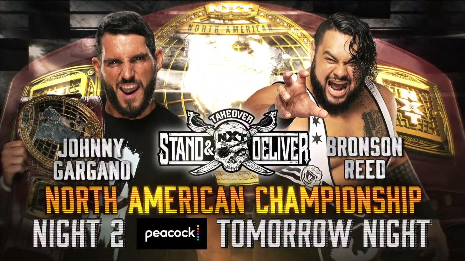 Para el NXT TakeOver de mañana.