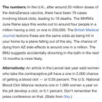Image for the Tweet beginning: odds of getting a blood