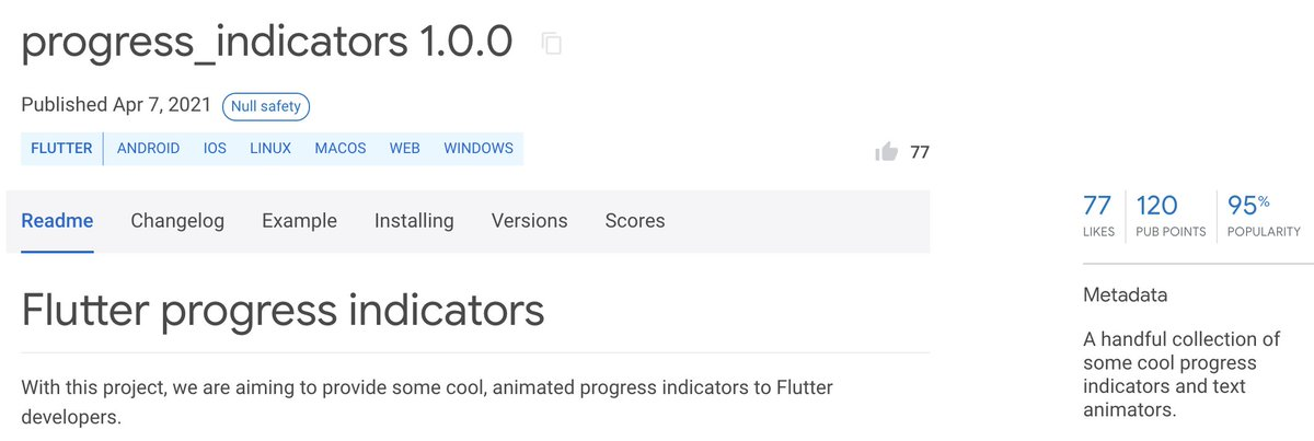 My Flutter package is now sound null-safe! ⚡️👨💻 pub.dev/packages/progr… To migrate your projects to null-safety, follow this documentation by @FlutterDev: dart.dev/null-safety/mi… #flutter