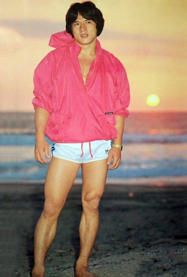 See what I\m saying with shorts like this?......but happy birthday Jackie Chan.