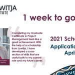 Image for the Tweet beginning: Our 2021 Scholarship Applications close