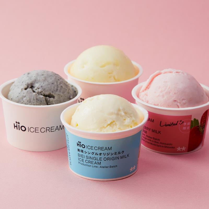お取り寄せ(楽天) アイスのギフトボックス★ クラフトアイスクリーム HiO ICE CREAM 4種類 10個入 価格5,076円 (税込)