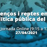 "Image for the Tweet beginning: 🗣️Jornada online ""Avenços i reptes"