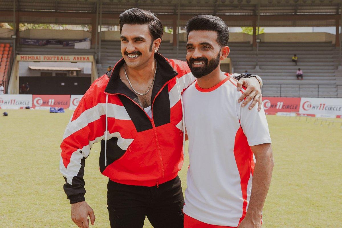 All the best for the tournament, Champ! 🏏👍🏽 @ajinkyarahane88