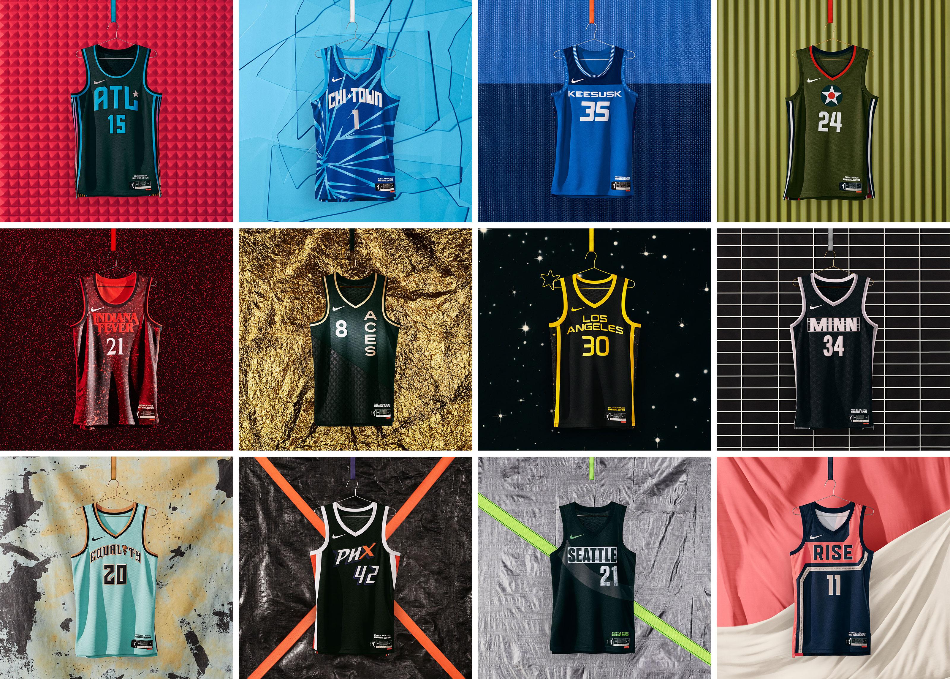 WNBA Rebel jerseys