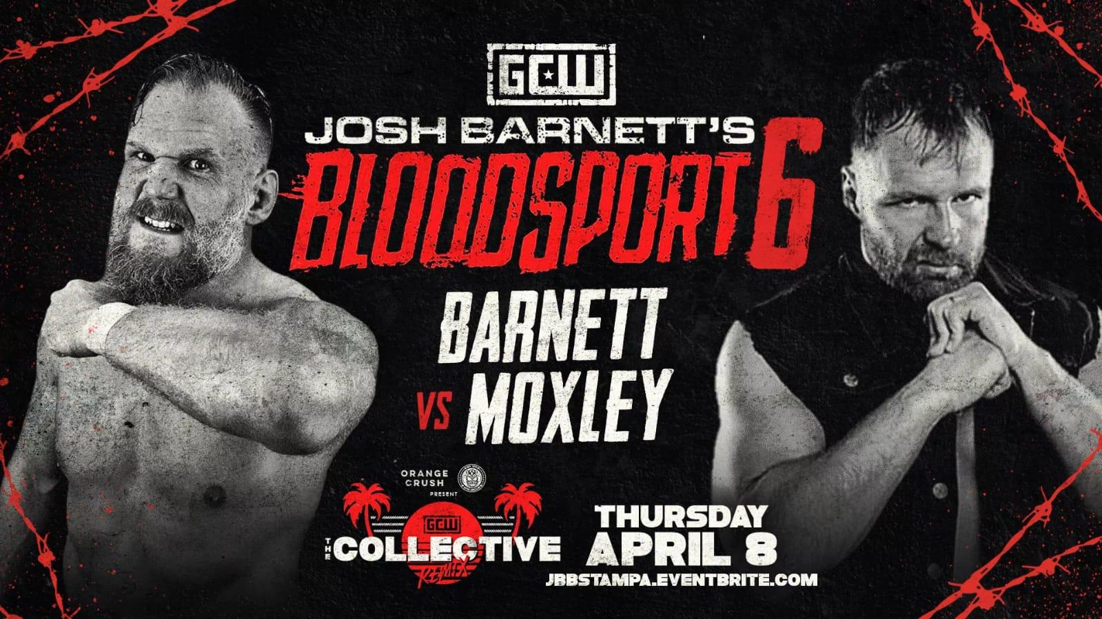 Moxley vs Barnett quienes se enfrentaron en la lucha estelar de Bloodsport 6.