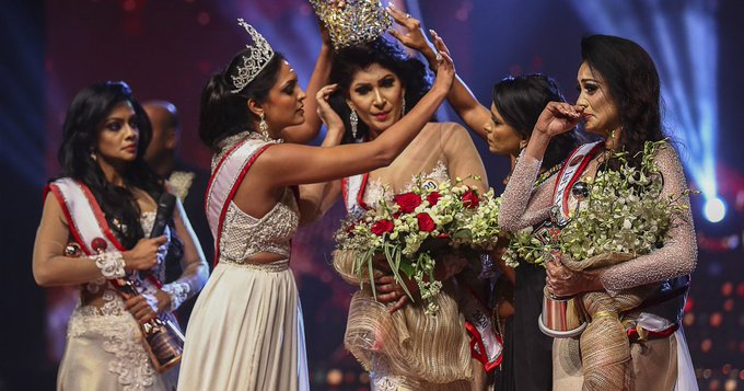 Mrs World arrested for pulling crown from Mrs Sri Lankas head, allegedly causing injuries Photo