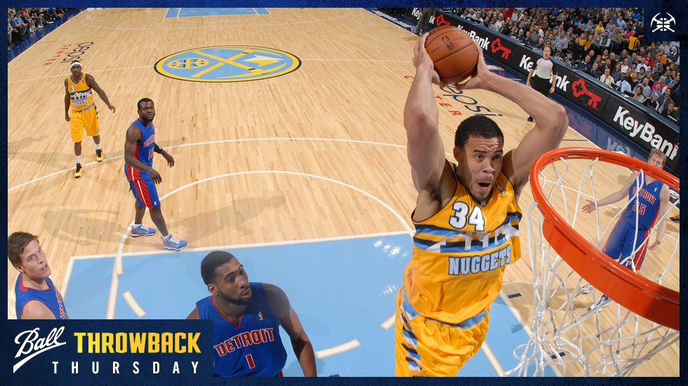 Throwin' it back to JaVale McGee's first stint in Denver.  So excited to have him back in the Mile High City!  #ThrowbackThursday https://t.co/BwTOVGVMCY