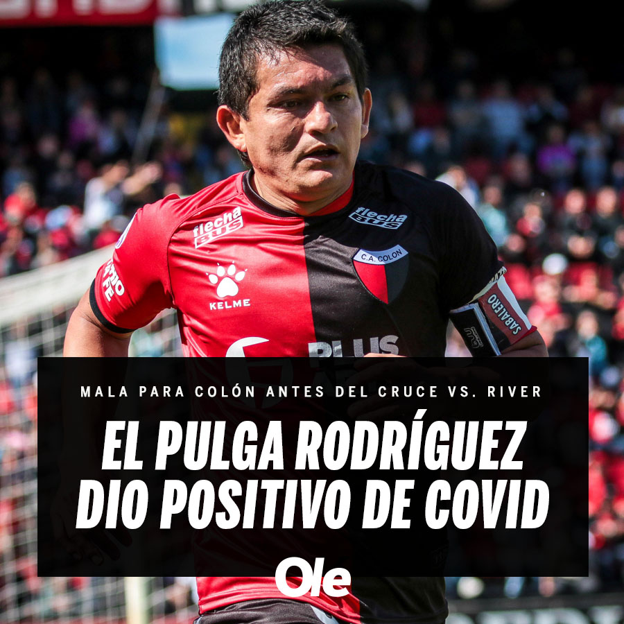 """Diario Olé on Twitter: """"🔴⚫️ El Pulga Rodríguez dio positivo de coronavirus  y será una baja sensible para Colón pensando en el duelo con River…  https://t.co/SZNPd4ix4V"""""""