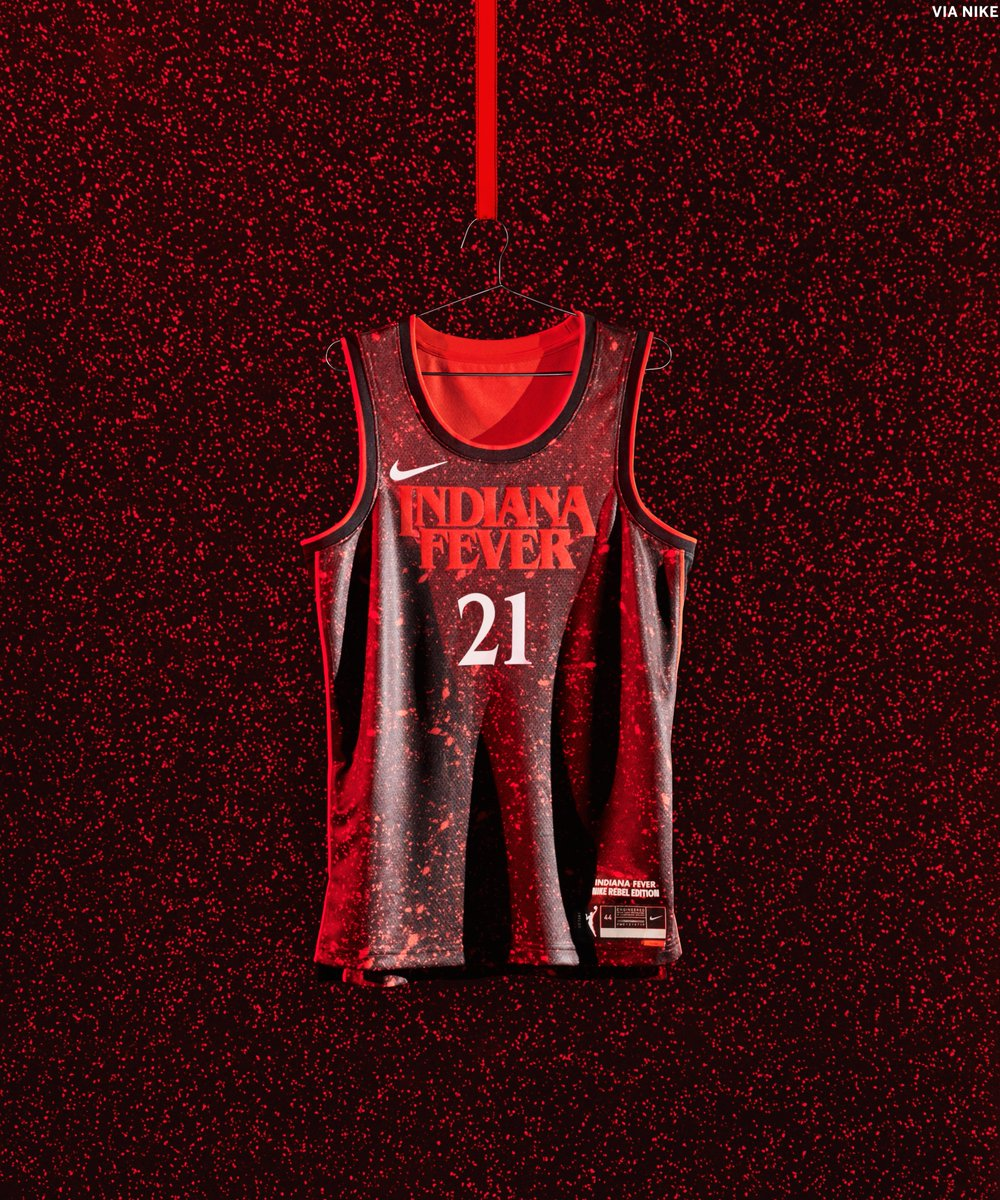 📍 Hawkins, Indiana  The @IndianaFever's Stranger Things jerseys are 🔥 @WNBA https://t.co/zkeSZHG9Te
