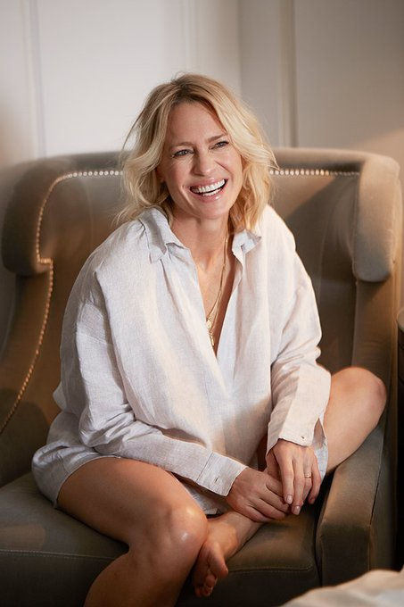 Happy birthday to the wonderful Robin Wright.  Photographed by Chris Floyd.