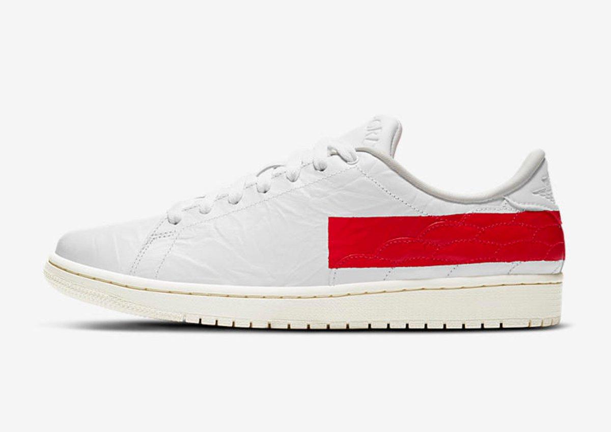 Air Jordan 1 Centre Court 'White/University Red'